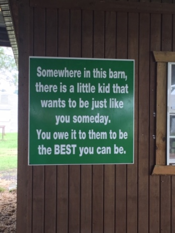 Mike's Livestock Barn Sign